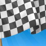 Checkered Flag Background. Card Template. Vector Stock Image
