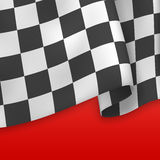 Checkered Flag Background. Card Template. Vector Royalty Free Stock Image
