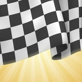 Checkered Flag Background. Card Template Royalty Free Stock Photos