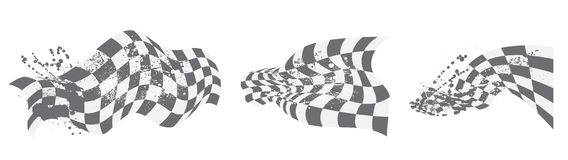 Checkered flag background elements black and white Royalty Free Stock Photography
