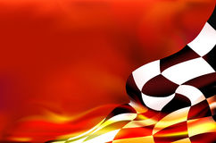 Checkered flag background and red flames Royalty Free Stock Photos