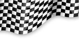 Checkered flag background with trophy Stock Photography