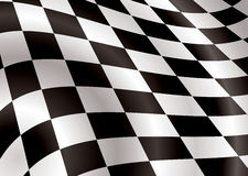Checkered flag bellow. Ing in the wind ideal background image Royalty Free Stock Photo