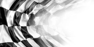 Checkered flag. Checkered black and white racing flag on white stock photography