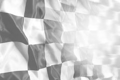 Checkered flag. Checkered black and white racing flag Stock Image