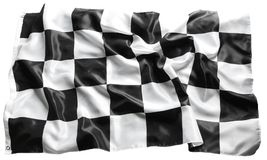Checkered flag. Checkered black and white racing flag stock images