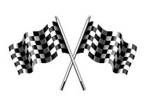 Checkered Flag, Chequered Flags Sport Motor Racing. Checkered Flag, Rippled black and white crossed chequered flag used at the start or Finnish of a race Stock Photo