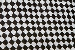 Checkered flag. Close-up of black and white checkered flag pattern Royalty Free Stock Photo