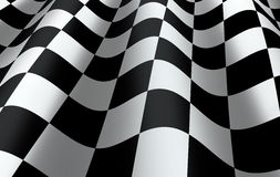 Checkered Flag. Close up - representing finishing or completing a race, competition Stock Photography