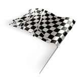 Checkered flag destroyed Stock Photos