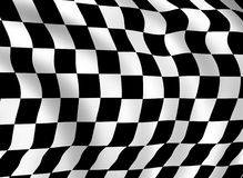 Checkered flag detail. Illustration suitable for backgrounds Royalty Free Stock Photos