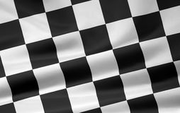 Checkered Flag - diagonal Royalty Free Stock Image