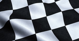 Checkered flag, end race background stock video footage