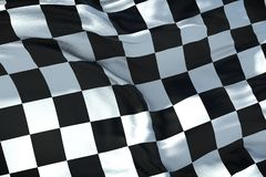 Checkered flag, end race background, formula one competition Stock Photos