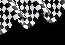 Checkered flag flying black design race background vector. Checkered flag flying on black design for race background vector illustration Stock Images