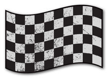 Checkered Flag Grunged. A grunged Checkered flag design on white background vector illustration