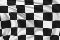 Checkered Flag. High quality illustration of a checkered flag waving in the wind Stock Photography