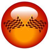 Checkered flag icon Stock Photography