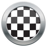 Checkered Flag Icon Stock Image