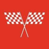 The checkered flag icon. Finish and start, winner symbol. Flat. Vector illustration Stock Image