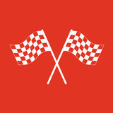 The checkered flag icon. Finish symbol. Flat. Vector illustration Royalty Free Stock Photos