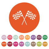 The checkered flag icon. Finish symbol. Flat Stock Photo