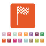 The checkered flag icon. Finish symbol. Flat Royalty Free Stock Photography
