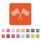 The checkered flag icon. Finish symbol. Flat Royalty Free Stock Image