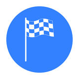 Checkered flag icon. Single sport icon from the big fitness, healthy, workout. Stock Photography