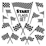 Checkered flag icons Stock Image