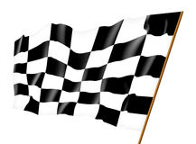 Checkered flag. Illustration. Isolated on white Royalty Free Stock Photo