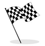 Checkered flag. Illustration of a checkered flag for car racing in black and white Stock Image