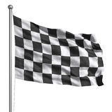 Checkered flag (Isolated) Royalty Free Stock Images