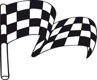 Checkered Flag Isolated Royalty Free Stock Images
