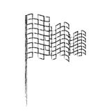 Checkered flag isolated icon. Vector illustration design Stock Image