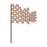 Checkered flag isolated icon. Vector illustration design Stock Photos