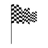 Checkered flag isolated icon. Vector illustration design Stock Images