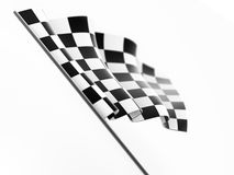 Checkered Flag. Isolated on white background Stock Image