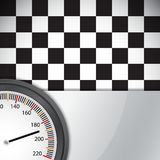 Checkered flag with metal frame Royalty Free Stock Photography