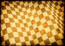 Checkered flag on paper texture Stock Images