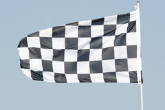 Checkered flag. At the racetrack stock image