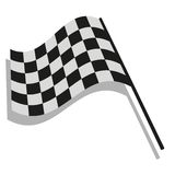 Checkered flag racing. Stock vector illustration. Clip art Stock Image