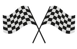 Checkered flag racing Stock Image
