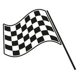 Checkered flag racing. Stock vector illustration. Clip art Royalty Free Stock Photos