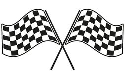 Checkered flag racing. Stock vector illustration. Clip art Stock Images
