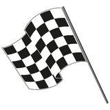 Checkered flag racing. Stock vector illustration. Clip art Stock Photography