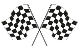 Checkered flag racing Stock Photography