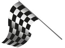 Checkered flag racing. Stock vector illustration. Clip art Stock Photos