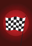 Checkered flag red - vector Royalty Free Stock Photo