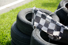Checkered flag resting Royalty Free Stock Image